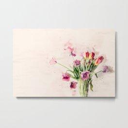 Lively Bouquet Metal Print