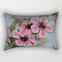 tea tree blossoms Rectangular Pillow