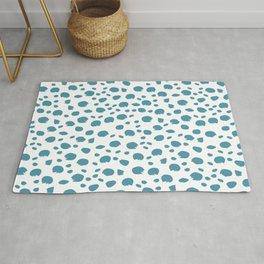 Blue Cheetah Animal Print Rug