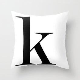 "Monogram Series Letter ""K""  Throw Pillow"