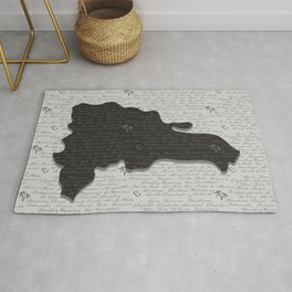Dominican Republic Map with Provinces Rug