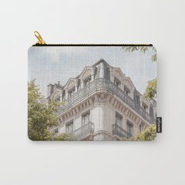 Paris City View | French Street Architecture Art Print | Urban Travel Photography In France Carry-All Pouch