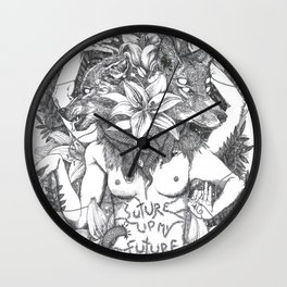 Suture up your future Wall Clock