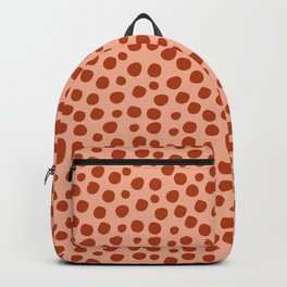 Irregular Small Polka Dots terracota Backpack