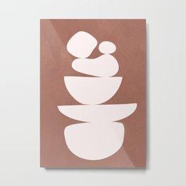 Abstract Balancing Shapes II Metal Print