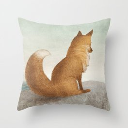 The Day the Antlered Ship Arrived Throw Pillow