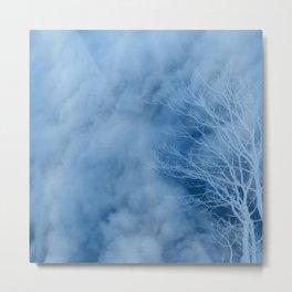 Tree Design Neck Gator Cloudy Tree Metal Print