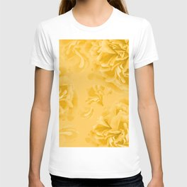 Lovely Peony Flowers in Soft Yellow Color #decor #society6 #buyart T-shirt