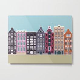 Damrak, Amsterdam, the Netherlands Metal Print