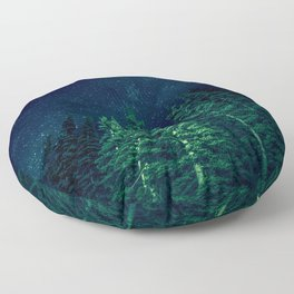 Star Signal - Nature Photography Floor Pillow