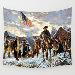 Washington At Valley Forge Wall Tapestry
