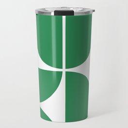 Mid Century Modern Green Square Travel Mug