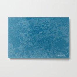 Edinburgh, Scotland, city map, Blueprint design, landscape format Metal Print