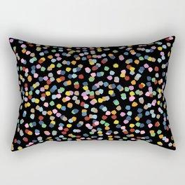 Blossom Petals II Black Rectangular Pillow