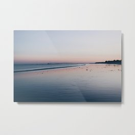 Photo of a sunset at sea in Brittany/Bretagne, France   Colorful travel photography   Metal Print