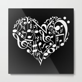 Invert Music love Metal Print