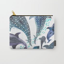 Whale Shark, Ray & Sea Creature Play Print Carry-All Pouch