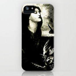 The Blind Lady and the Dove iPhone Case