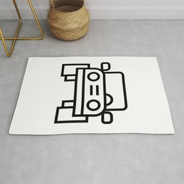 Jeep 4x4 Car Icon (Front-View) Rug