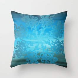Ice Cold Abstract Throw Pillow