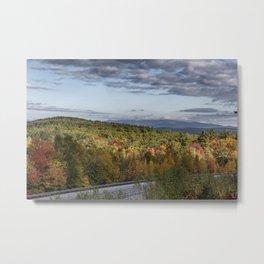Mountain foliage in NH  Metal Print