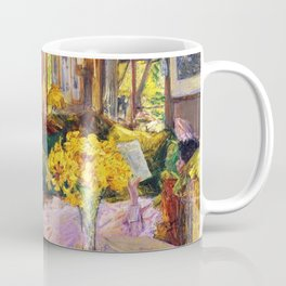 Classical Masterpiece 'The Room Full of Flowers' by Frederick Childe Hassam Coffee Mug