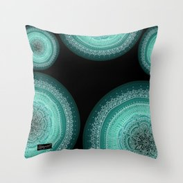 Realizing on Black Background Throw Pillow