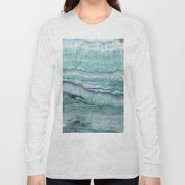 Mystic Stone Aqua Teal Long Sleeve T-shirt