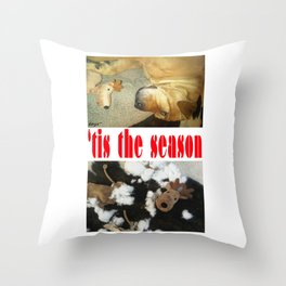 """"""" 'tis the season """" from the photo series""""My dog, PLaY-DoH"""" Throw Pillow"""