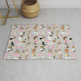 Small Dog Breeds with ice creams summer fun for the pet lover dog person in your life Rug