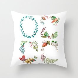 Botanical wreaths Throw Pillow