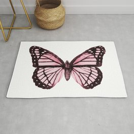 Monarch Butterfly Pink Dream Rug