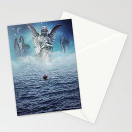 path of redemption     surrealism, lllustration, statues, scifi, space, sea Stationery Cards