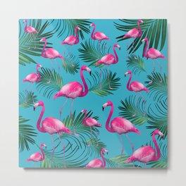 Summer Flamingo Palm Vibes #2 #tropical #decor #art #society6 Metal Print
