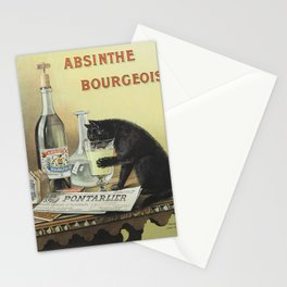 Vintage poster - Absinthe Bourgeois Stationery Cards