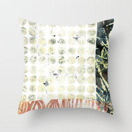 Pods and Dots Throw Pillow