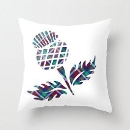 Scotland Gifts Scottish Thistle Tartan Plaid Gift Throw Pillow