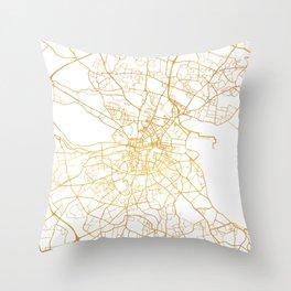 DUBLIN IRELAND CITY STREET MAP ART Throw Pillow