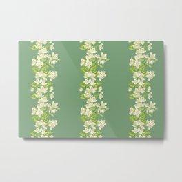 Jasmine Branch Decor Metal Print