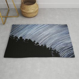 Starry Night Time Lapse Rug