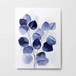 Indigo blue eucalyptus Metal Print