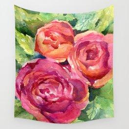 Three Roses Wall Tapestry