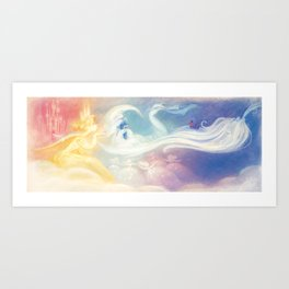 """The Sun, The Stars and The Moon // Illustration from """"Once Upon A Cloud"""" Art Print"""