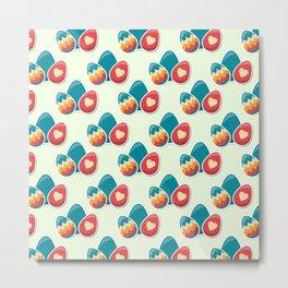 Cute easter pattern Metal Print