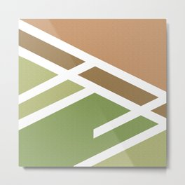 Green brown Minimalist marble modern and cool Metal Print