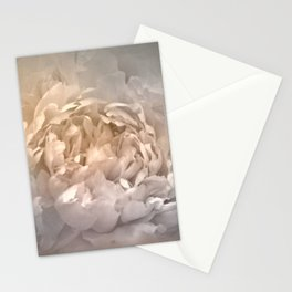 Blushing Silver and Gold Peony - Floral Stationery Cards