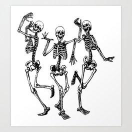 Three Dancing Skulls Kunstdrucke