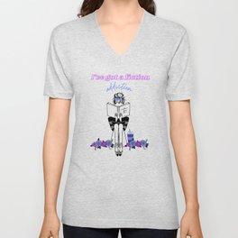 Fiction Addiction - purple Unisex V-Neck