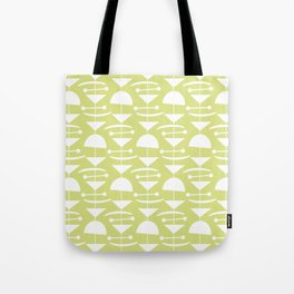 Retro Mid Century Modern Abstract Mobile 731 Chartreuse Tote Bag