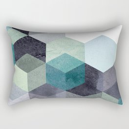ABSTRACT GEOMETRIC COMPOSITION III Rectangular Pillow